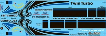 Mustang Cobra Jet >> Slixx Decals Inc., Mustang Cobra Jet Graphic sheet #3